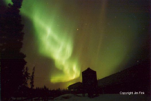 Aurora Borealis Over Barn