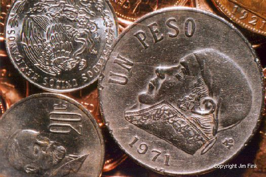 Close-up Picture of Mexican Peso