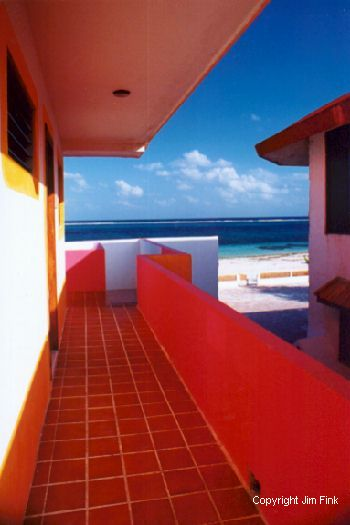 Rear View of the Caribbean, Hotel Ojo De Agua, Puerto Morelos, Mexico